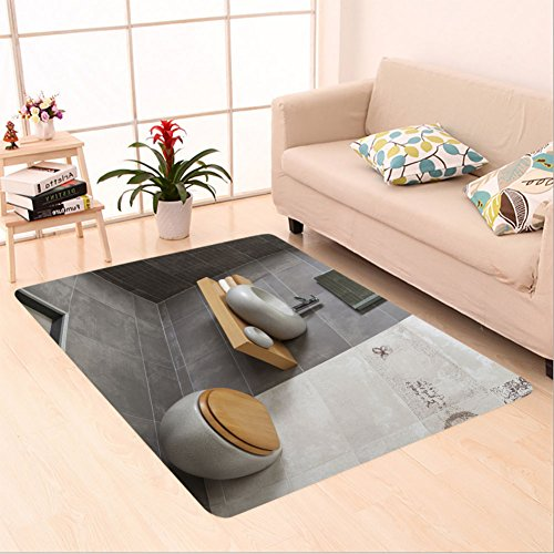 Sophiehome skid Slip rubber back antibacterial  Area Rug interior of modern bathroom with sink and toilet 172729316 Home Decorative by sophiehome