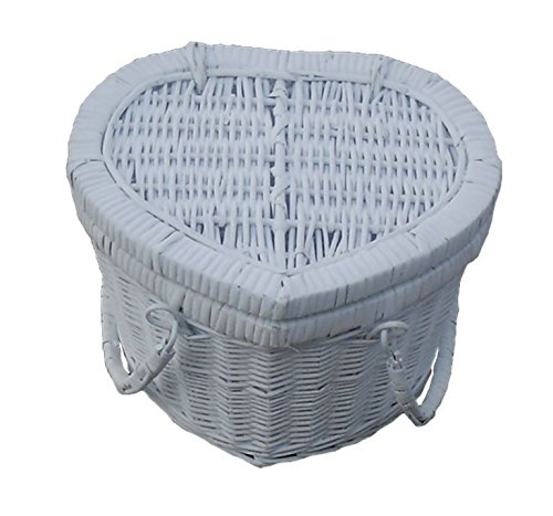 Provence Heart Large Empty Picnic Basket