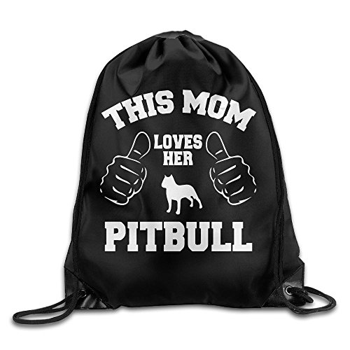 This Mom Loves Her Pitbull Drawstring Pack Beam Mouth School Travel Backpack Rucksack Shoulder Bags For Men & Women from 05_&_NG