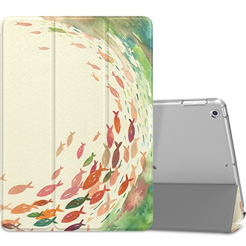 Frosted Limited Clear Edition - MoKo Case Fit 2018/2017 iPad 9.7 6th/5th Generation, Slim Lightweight Smart Shell Stand Cover with Translucent Frosted Back Protector Fit Apple iPad 9.7