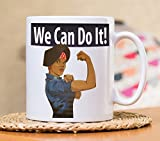 we can do it mug - We Can Do It Mug, Feminist Mug, Feminist Gift, Black Girl Magic Mug, Afro Puffs Shirt, Nevertheless she persisted, Black Girls Rock, Women