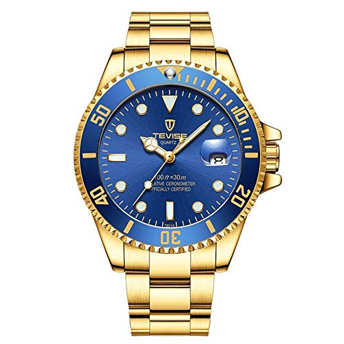 TEVISE Luxury Men Buisness Automatic Watches with Auto Date Luminous Hand Stainless Steel Mechanical Fashion ()