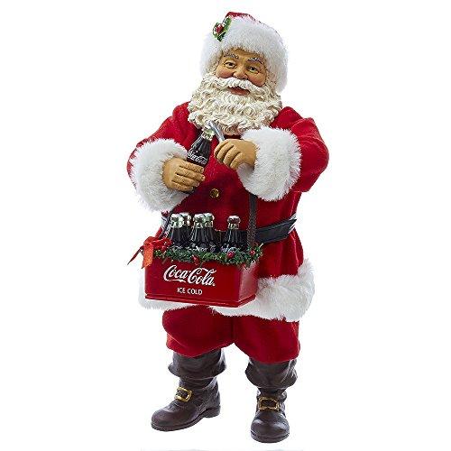 "Kurt S. Adler 10"" Santa Opening Coke Tablepiece"