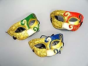 """Máscara de papel maché, """"Domino"""", """"ordenados"""""""
