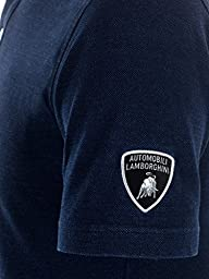 Automobili Lamborghini Mens Indigo Polo Shirt Xxl Blue