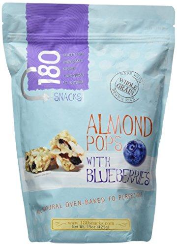 180 Snacks Almond Pops w/Blueberries, 15 Ounce Bag