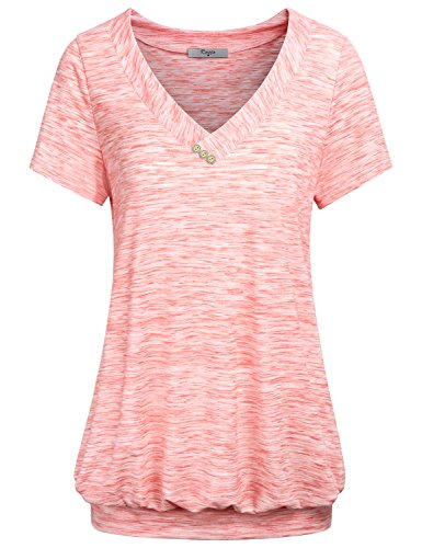Cestyle Womens Short Sleeve Banded