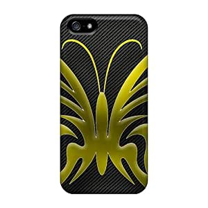New Premium PDHYtjV3120fkNyf Case Cover For Iphone 5/5s/ Yellow Butterfly Protective Case Cover