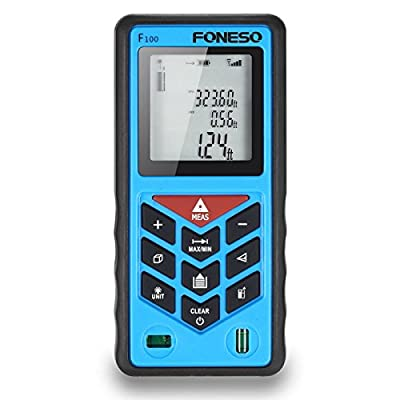 Foneso Laser Tape Measure 328ft Handheld Distance Meter Rangefinder Measurer Tape Diastimeter with Mute Function Range Finder, Pythagorean Mode, Area& Volume Calculation