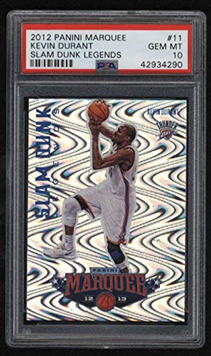 (2012 Panini Marquee Kevin Durant PSA Gem Mint 10 Slam Dunk Legends)