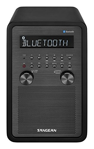 Sangean All in One Bluetooth AM/FM Dual Alarm Clock Radio with Large Easy to Read Backlit LCD Display by Sangean