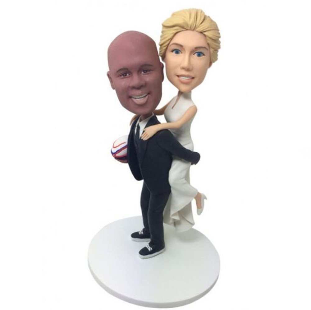 Custom Funny Wedding Bobblehead Polymer Clay Bobbleheads Cake Toppers by MiniBobbleheads