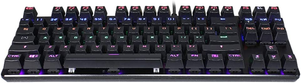 Size 355 132 39mm Wired Mechanical Keyboard Gaming Keyboard 87-Key Mixed Light 50 Million Times Key Life Green axis