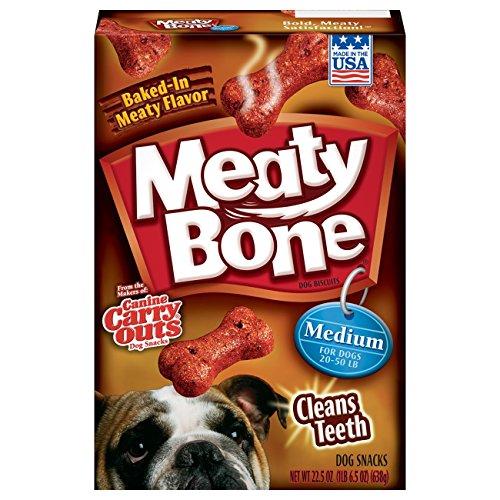Meaty Bone Dog Treats, Medium Dogs, 22.5 ounce (pack of 12)