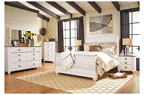 Bedroom Amazing Buys Willowton Bedroom Set by Ashley Furniture – Includes Queen Bed, Dresser and Mirror farmhouse bedroom sets
