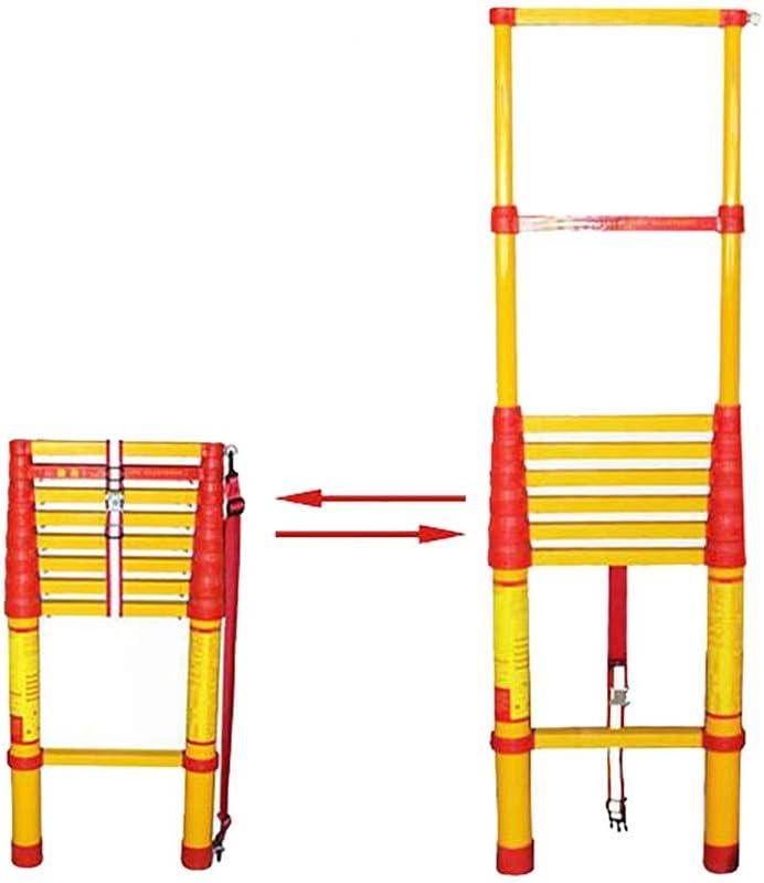 Escalera extensible Escalera telescópica Profesional Portátil Plegable Telescópica Escalera, Escalera Multiuso De Aislamiento De Extensión Telescópica con Aislante Encogimiento De Bloqueo, 330 Lb Capa: Amazon.es: Hogar