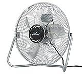 Iliving ILG8F12 3-Speed High Velocity Floor Fan, 12-Inch