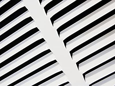 """36""""w X 8""""h Steel Return Air Grilles - Sidewall and Ceiling - HVAC DUCT COVER - White [Outer Dimensions: 37.75""""w X 9.75""""h]"""