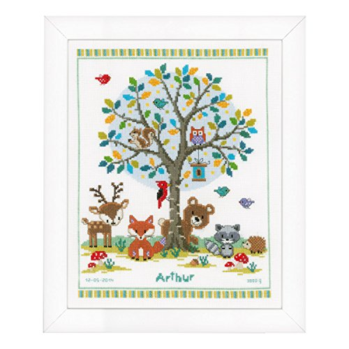 Vervaco Into the Woods Counted Cross Stitch Kit, Multi-Colou