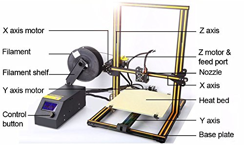 Afinibot a31 3D Printer 300x300x400mm / 36.000 cm3