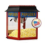 Paragon 1911 Originals 4-Ounce Antique Popper Popcorn Machine, Red