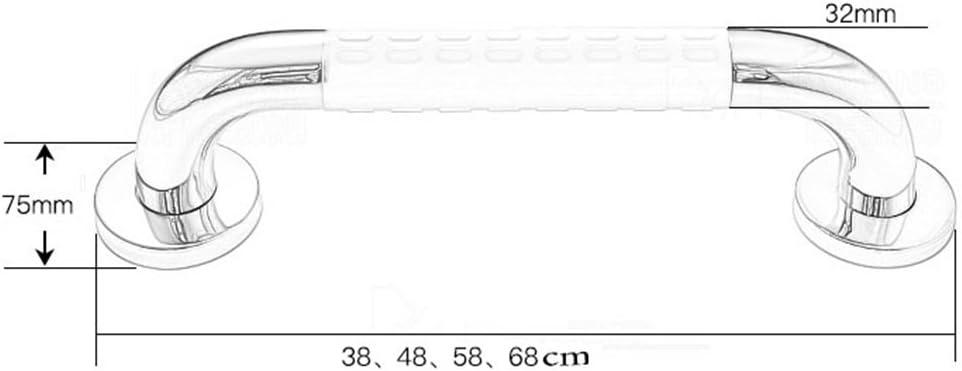 Haltegrif HFF 304 Edelstahl-Haltegriff f/ür WC-Dusche Badezimmer Runde Haltegriff Badezimmer-Handgriff//Wand montiert gerade Handtuchhalter//Duschhilfe /& Sicherheit Unterst/ützung Handlauf Haltegriff