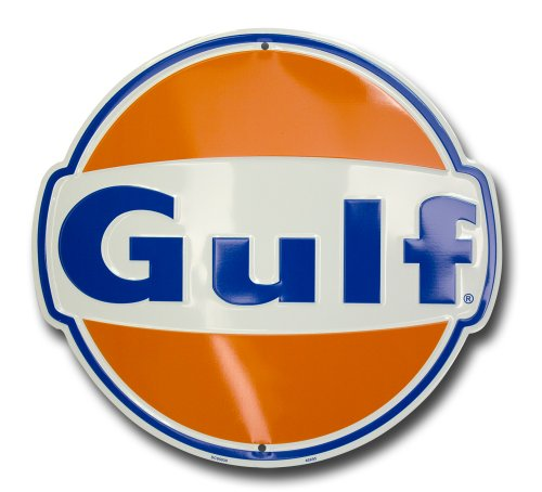 (HangTime Gulf Oil Nostalgia Sign Die Cut)