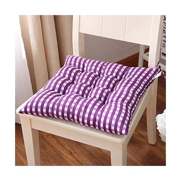 WDOIT - Cuscino per Sedia, particolarmente Imbottito, per mobili in Rattan, da Giardino, Stile 3, 40 * 40cm 7 spesavip