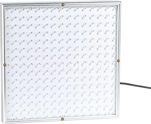 Lunartec Pflanzenlicht: Profi LED-Pflanzen-Wachstums-Leuchtpanel mit 225 LEDs, 250 Lumen (LED Wachstumslampen fuer Profis) [Energieklasse A]