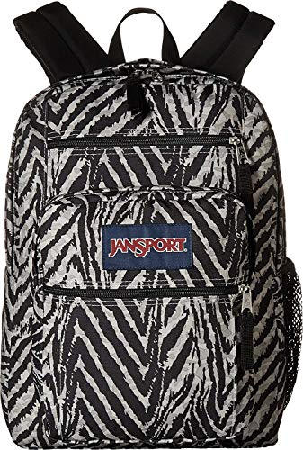 Zebra Print Backpack - JanSport Big Student Classics Series Backpack - Grey Tar Wild At Heart