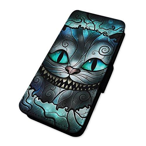 Stregatto vetrate Smile–Flip cover in pelle copertura di carta Apple Iphone 7 Plus