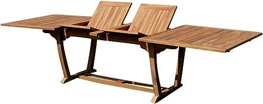 AS-S JAV-TOBAGO-300x100 - Mesa de jardín extensible de madera de teca real (200-250-300 cm, 2 extensiones, 100 cm de ancho): Amazon.es: Hogar