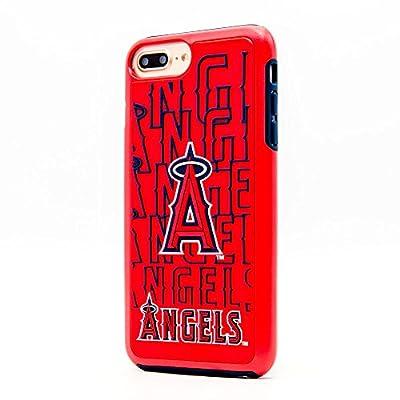 Apple iPhone 8/7/6S/6 Plus MLB Case Slim Dual layer Hybrid Hard Case on TPU Case [Los Angeles Angels]
