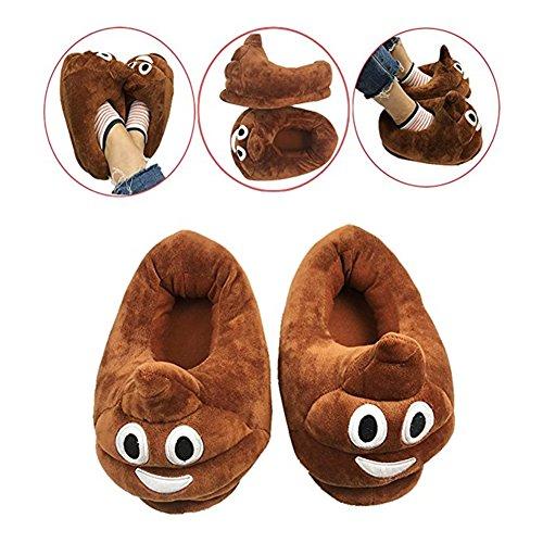 Winter Plush Slippers Creative Men Women Unisex Emoji Soft Cute Cartoon Winter Warm Home Indoor Shoes (Pooh) - Pooh Slipper