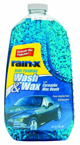 Rain-X 5077557 Wash and Wax with Carnauba Wax Beads - 64 fl oz. (Soap Car Wash)