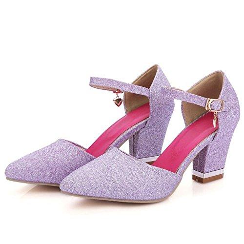 Purple Zanpa Sandali Tacco Donna Alto Classico RqXrqwO4x