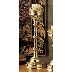 """Design Toscano Chartres Cathedral Gothic Estate Candlestick Size: 19"""""""
