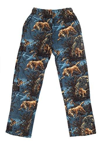 Pajama Pants Boys Fleece (North 15 Boy's Cozy Polar Fleece Hunting Print Lounge Pants-1231B-Print4-18)