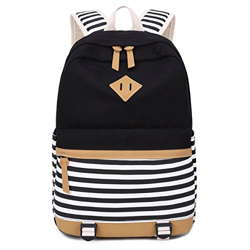 Girls Backpack for School Bags Canvas Bookbag Rucksack Casual Daypack for  Teens (Black) - Buy Online in UAE.  57a39d2cd9dd3