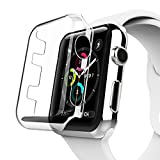 For Apple Watch Case, YMCCOOL iphone Watch TPU Screen Protector All-around Protective 0.3mm Hd Clear Ultra-thin Cover for i Watch (Apple Watch 42mm Case)