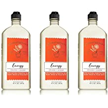 Bath & Body Works Aromatherapy Energy - Orange + Ginger Body Wash & Foam Bath, 10 Fl Oz, 3-Pack