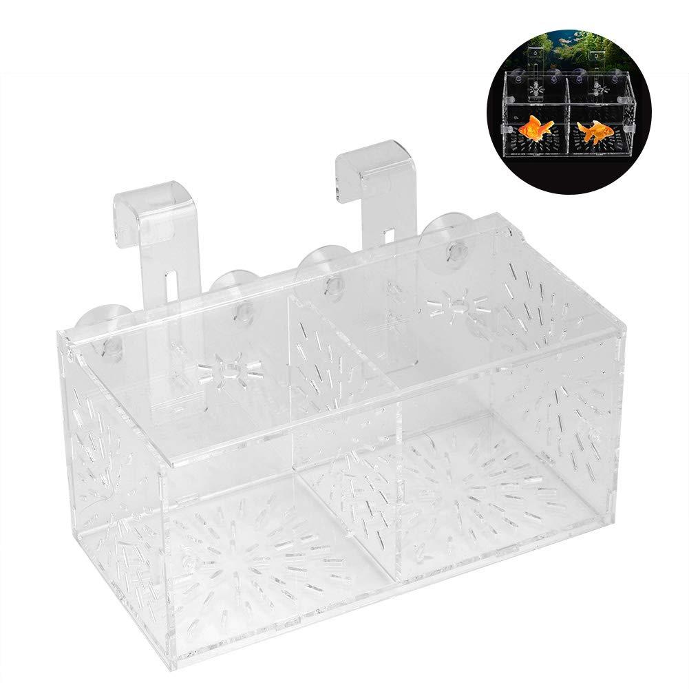 Breeding Box for Fish Acrylic Fish Breeding Isolation Box Aquarium Acclimation Hatchery Incubator for Baby Fishes Shrimp…