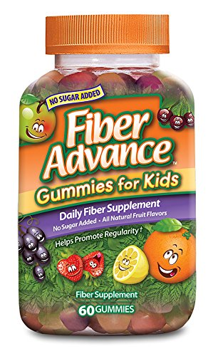 FiberAdvance for Kids Gummies, 60 Count (Pack of 3) (Best Laxative For Kids)