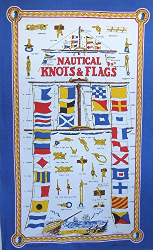 Nautical Knots and Flags Shipping Bunting Galley Cloth Tea Towel