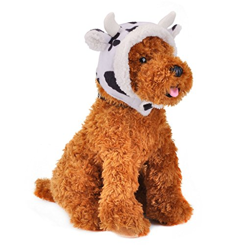 Dog Cow Costume (CozyCabin Pet Costume Cat Dog Hat Warm Milk Cow Cap)