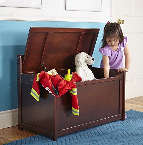 Cofre para juguetes Melissa & Doug - Muebles para niños espresso - usame