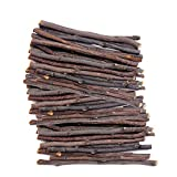 (60 Pack) Pet/Bunny/ Hamster/Rabbit Chew Toys, Auoker Natural Apple Wood Sticks Branches Snacks Clean Teeth and Healthy Gums for Hamster Chinchilla Guinea Pigs Gerbils and All Need Molar Rodents