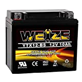 Weize YTX12-BS Motorcycle Battery High Performance - Maintenance Free - Sealed YTX12 BS AGM Rechargeable ATV Batteries For Honda Kawasaki Suzuki
