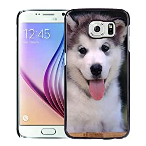 Popular And Unique Designed Case For Samsung Galaxy S6 With Smiling Siberian Husky Phone Case Cover
