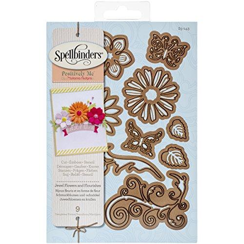 Brand New Spellbinders Shapeabilities Dies-Jewel Flowers & Flourishes Brand New (Jewel Shapeabilities)